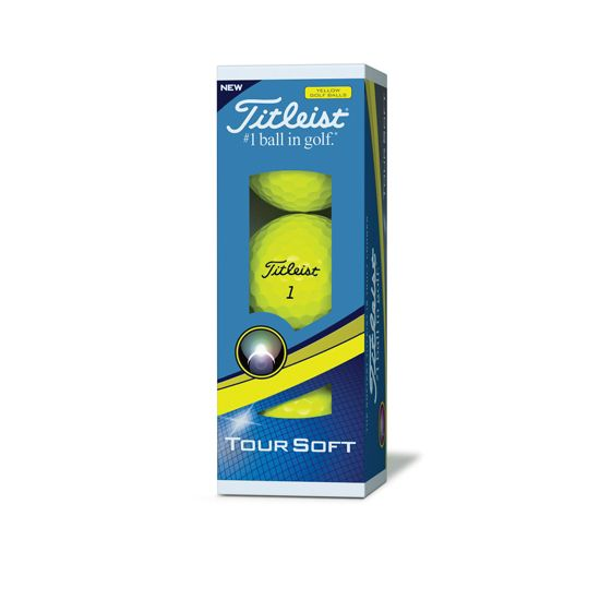 Tour soft yellow sleeve golf ball