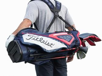 Golfer With Usa Flag Golf Bag
