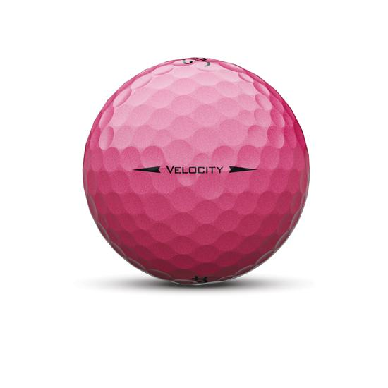 Velocity Golf Ball Pink Sidestamp