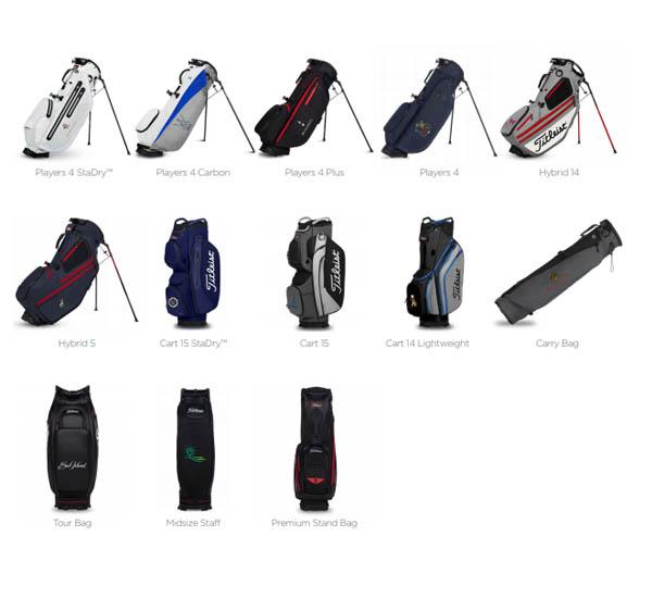 Location Options for Titleist Players Collection Custom Golf Bags