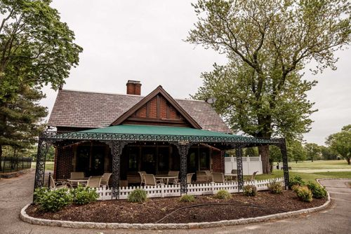 "The ""Calamity Jane House"" was the golf shop in Bobby Jones' time. Now it serves as the club's halfway house and stands as a monument to a notable piece of Long Island golf history."