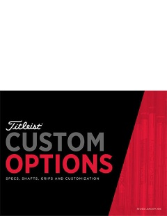 Titleist Golf Clubs Custom Options