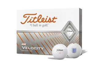 Titleist Velocity Scotland Golf Balls with Logo