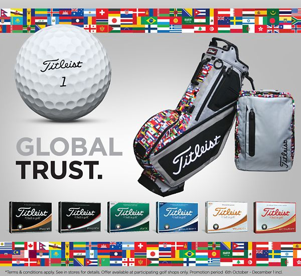 Limited Edition Titleist Worldwide Stand Bag and Backpack