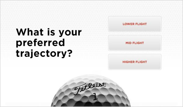 Golf Ball Selector Trajectory Sample Screen