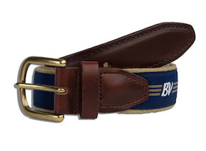 BV Wings Ribbon Belt - Navy