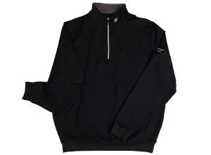 FJ Half-Zip Pullover with Gathered Waist - Black