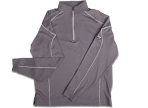 FJ Mixed Texture Sport Half-Zip Pullover - Steel Grey