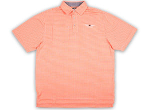 FJ Jacquard Check with Self Collar - Orange