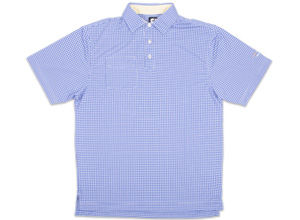 FJ Jacquard Check with Self Collar - Royal Blue