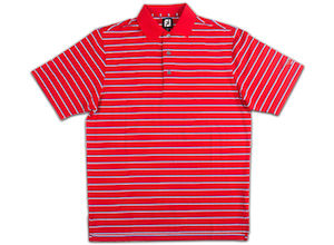 FJ ProDry Performance Lisle Stripe - Red + Nautical Blue/White