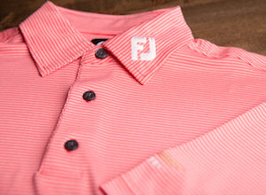 FJ Geometrick Jacquard Self Collar - Poppy Red + White