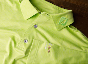 FJ Space Dye Lisle Self Collar - Lime