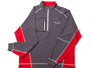 FJ Wind Shell Mid Layer - Charcoal / Red+White